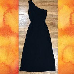 Lauren Ralph Lauren Black Floor Length Gown Gold